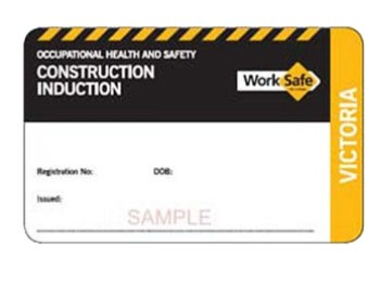 Construction Induction Card
